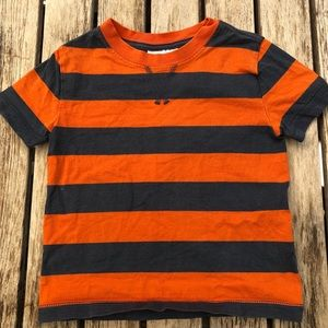 Hanna Andersson Orange & Blue Striped T-Shirt